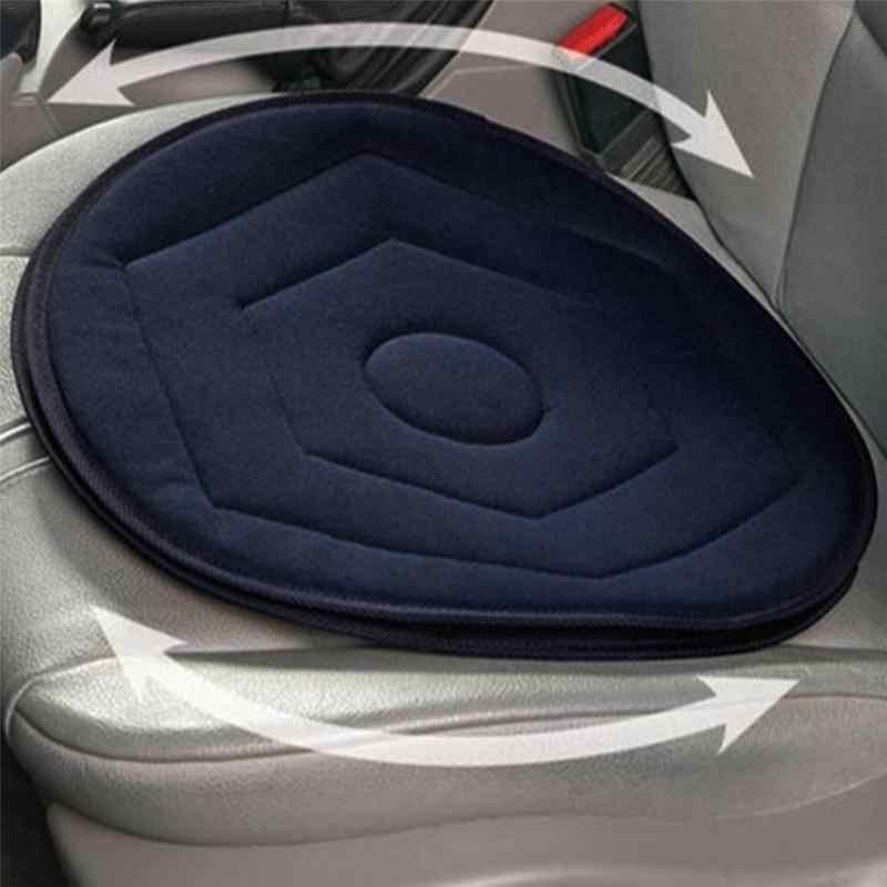 Fotelik samochodowy antypoślizgowa oddychająca obrotowa poduszka pamięć obrotowa pianka pomoc w poruszaniu się w fotelu krawat na poduszce ciemnoniebieska poduszka siedziska