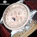 FORSINING Marke Mode Männer Mechanische Uhren Echtes Leder Strap Casual Männer Automatische Auto Datum Uhren Relogio Masculino|Mechanische Uhren|Uhren -