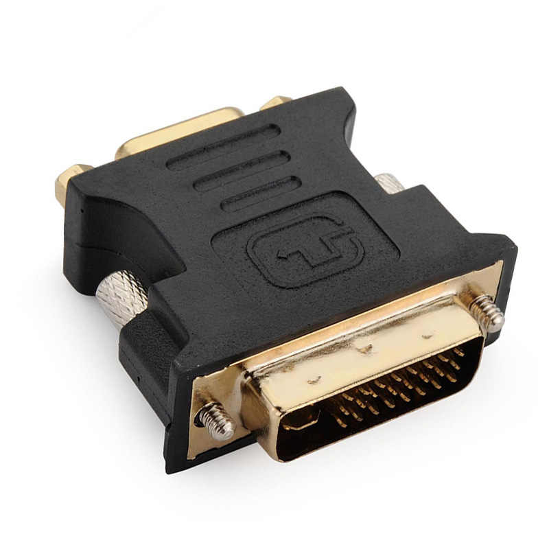 24 + 5Pin DVI to VGA Adapter Digital to Analog DVI-I PC TFT Beamer Plug Socket Converter GY88