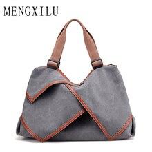 MENGXILU Ursprünglichen Großen Leinwand Frauen Taschen Handtaschen Frauen Berühmte Marken Großen Casual Tragetaschen Schulter Für Frauen Messenger Bags