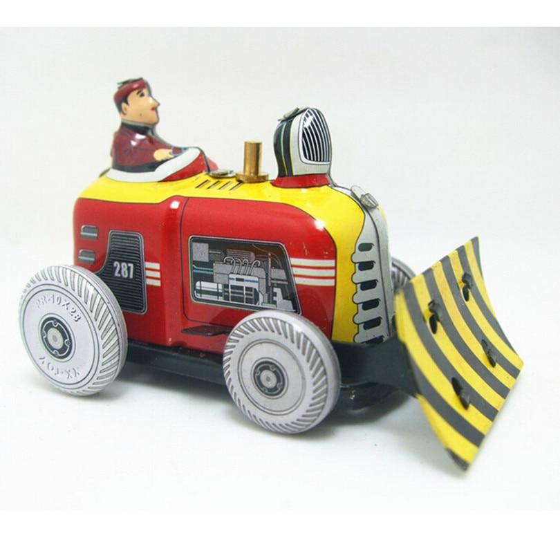 Excavator Model Wind-Up-Toys for Children/Adults Christmas Gift,Novelty Vintage Clockwork Toys 2 Pcs/Lot