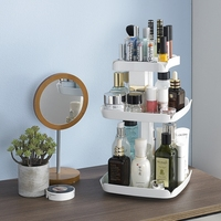 3layers 360 Degree Rotation Makeup Organizers Jewelry Cosmetic Storage Box Lipstick Holder Toiletry Holder Organizers
