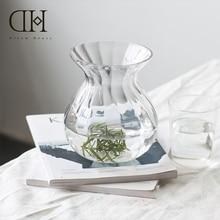 Dream House DH Curve Transparent Glass Vase For Home Party Garden Decoration Flower Arrangement Wedding Bride Bouquet