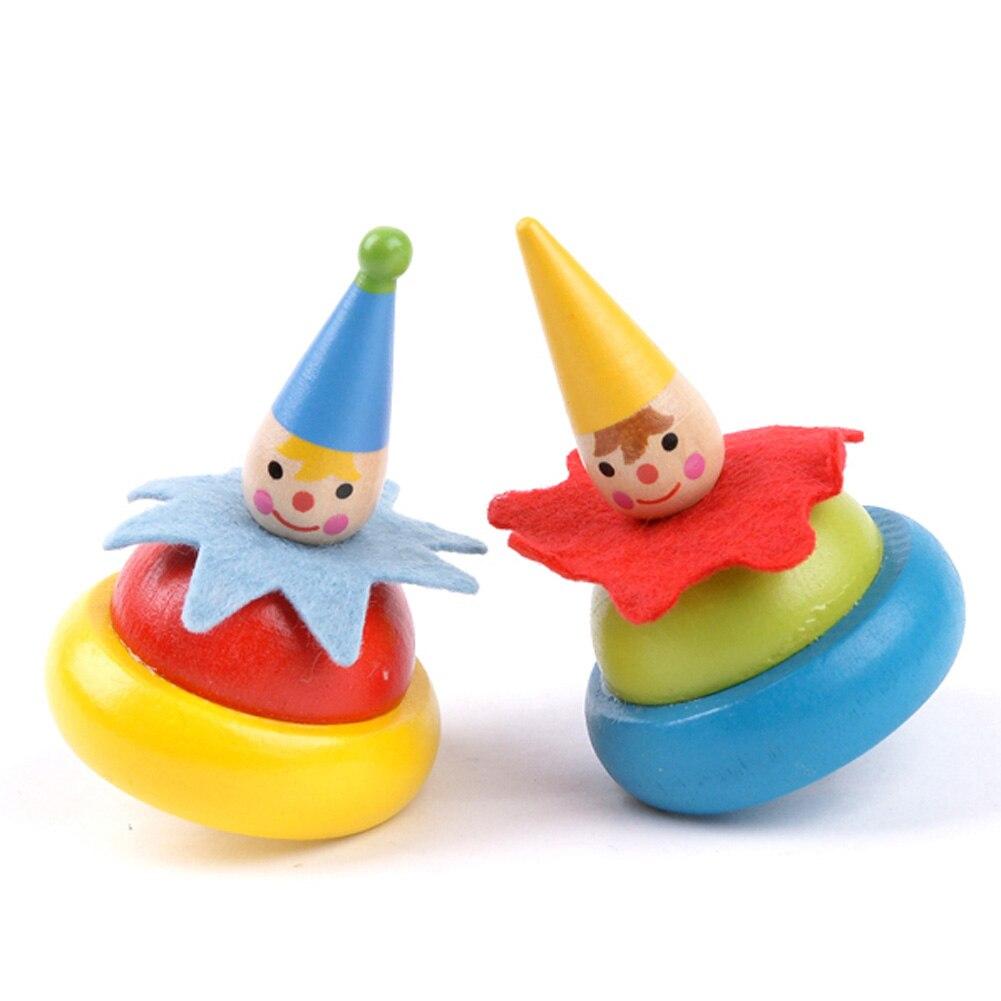 1 Stück Traditionelle Holz Rotierenden Super Nette Clown Gyro Nostalgischen Holz Puzzle Für Kinder Eltern-kind-pädagogisches Spielzeug