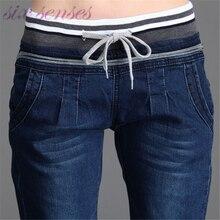 wholesale spring autumn Women Jeans Stretch Skinny Pencil Pants Denim Black Color Casual Plus long trousers pantalones DL1768