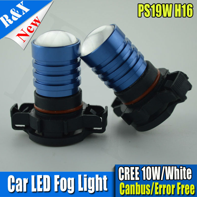 1 шт 10 Вт 10-30 В H16 5202 PS19W CANBUS ОШИБОК светодиодные лампы для Audi A3 автомобиля водить автомобиль спереди DRL лампы Белый