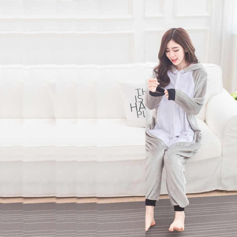 Коала кигуруми пижамы фланелевые коалы Onesie для взрослых пижамы животных для мужчин и женщин зимняя одежда для сна Хэллоуин Косплей Костюм