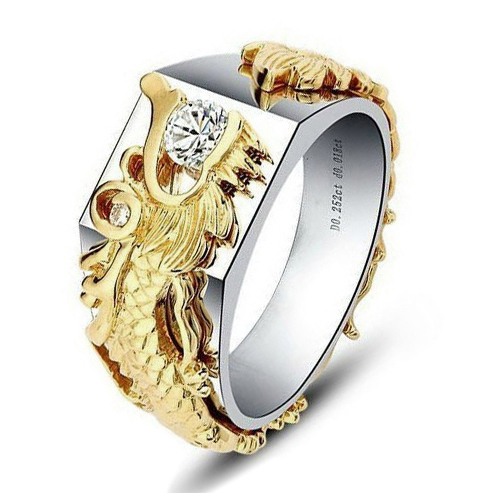 Eternity 035CT Dragon Setting SONA Synthetic Diamond Ball Ring