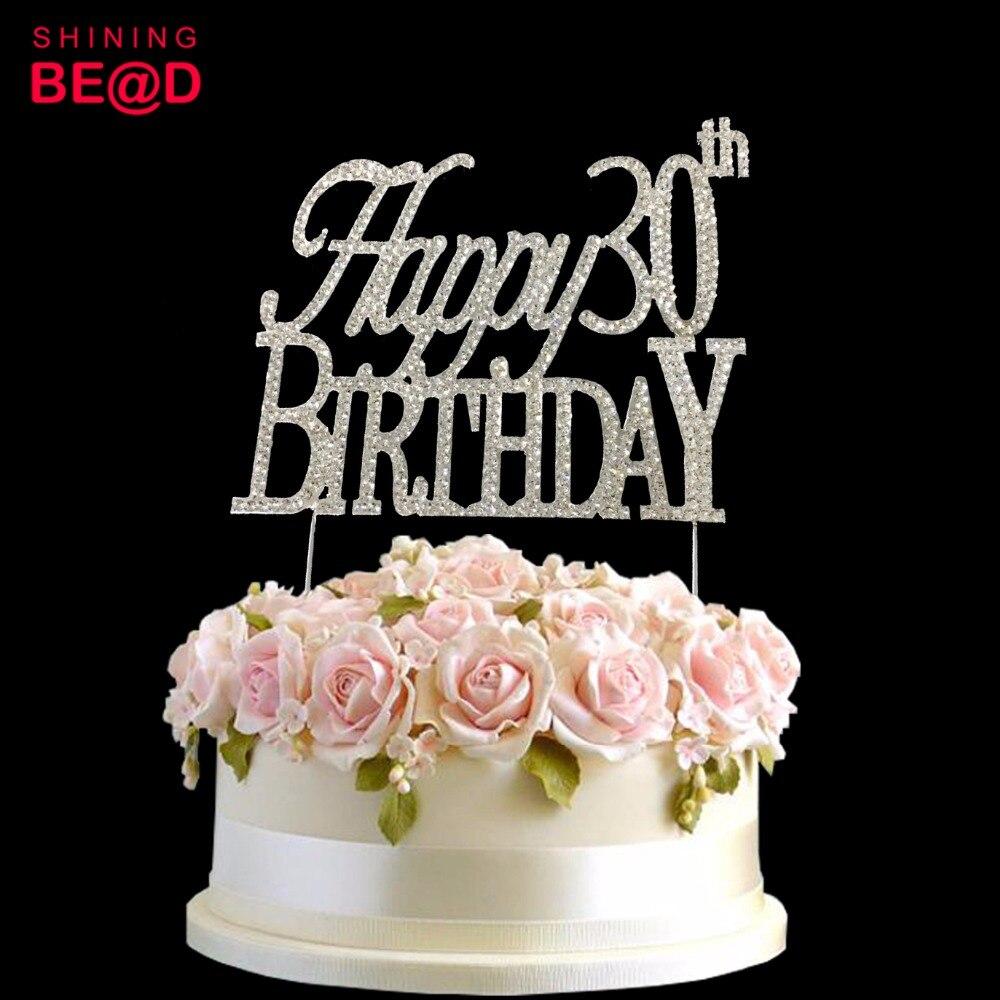 10 Pcs/lot+Happy 30th Birthday Party Cake Decoration