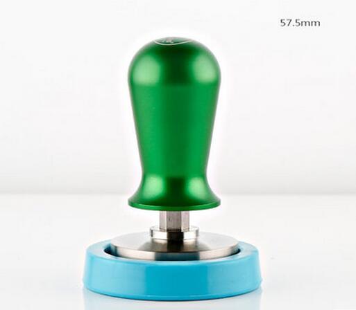 1PC Espresso Coffee Machine Pressure Calibrated Coffee Tamper Green 57.5mm Coffee powder press bulk powder pure green coffee bean extract 50