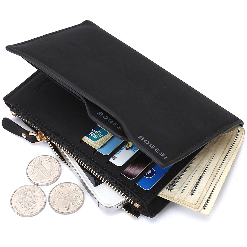 2018 New Design Men Wallets Coin Purse Wallets for Men with Checkbook Holder Soft Card Classic Mens Wallet Money Bag Purses new classic soild designer wallet men coin purse mens clutch wallets male money purses soft card case black brown dollar price