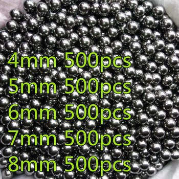 Σφαιρίδια Από Ανοξείδωτο Ατσάλι Για Σφεντόνες Σε Διάφορα Μεγέθη 4mm – 8mm 500 Τεμάχια Κυνήγι Χόμπι MSOW