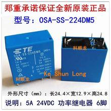 Gratis verzending (10 stuks/partij) 100% Originele Nieuwe TE TYCO OEG OSA SS 224DM5 OSA SH 224DM5 6PINS 5A 24VDC Power Relais