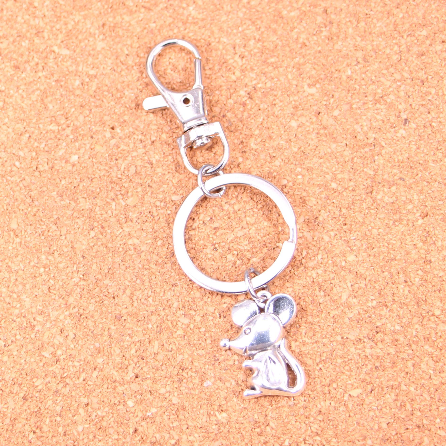 Cute Basset Hound Dog Diamante Handbag Keyring Rhinestone Charm Bling NEW