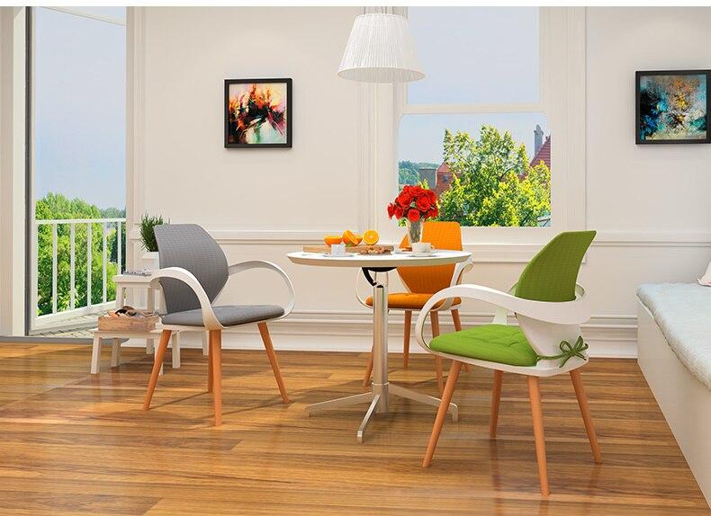 Гостиная Председатель Чай Кофе дом стул деревянная нога orange цвет зеленый серый подушк ...