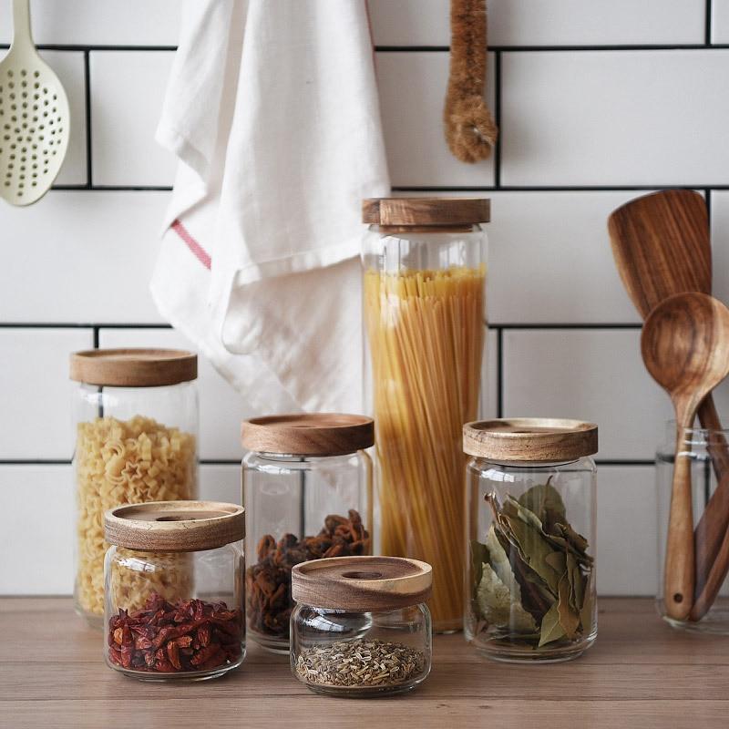 Storage Bottle Kitchen Store Food Ingredient Eco-friendly Store Nut Grain Candy Biscuit Refrigerator Classification Storage Jar