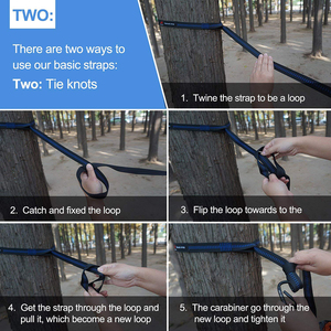 Image 5 - Camping Hammock With Hammock Tree Straps Portable Parachute Double Nylon Hammock For Backpacking Travel