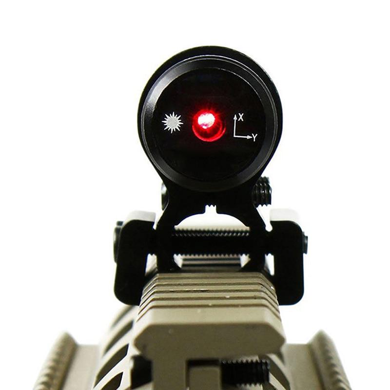 Röd lasersikt med 20mm / 11mm järnvägsjakt Luftningsport Gun Slot - Jakt - Foto 4