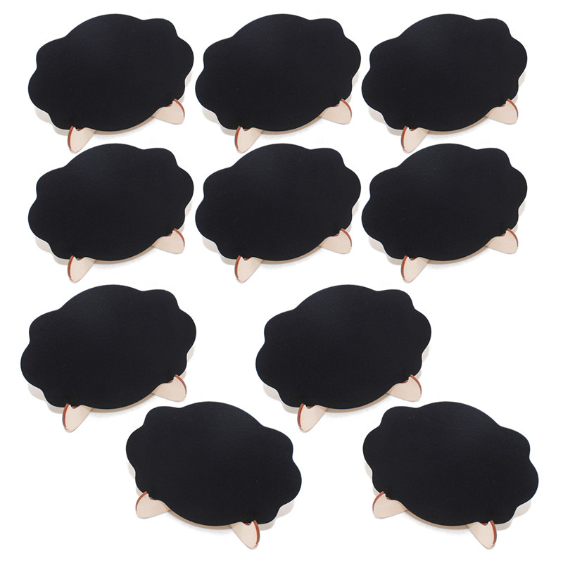 5pcs/Lot Cloud shape Wooden mini blackboard Message boardFor Wedding Party Decorations chalkboards Pakistan