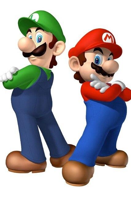 diy frame cartoon super mario bros game poster silk fabric mario luigi poster print great - Super Mario Pictures To Print