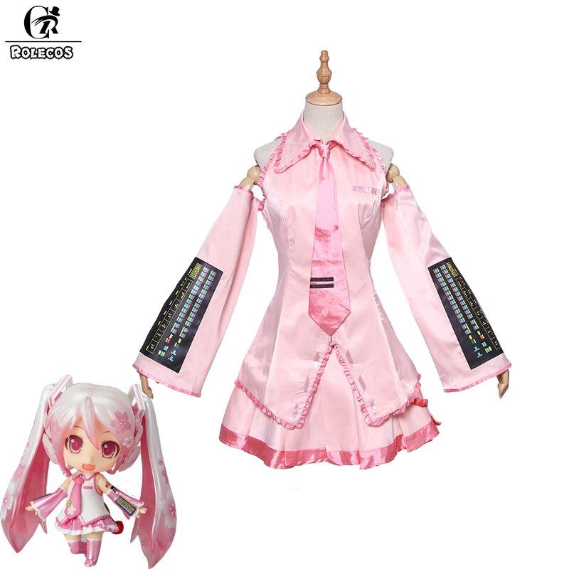 Здесь продается  ROLECOS New Arrival Sakura Miku Cosplay Costume Color Pink Full Set Adult Kids Cosplay   Одежда и аксессуары