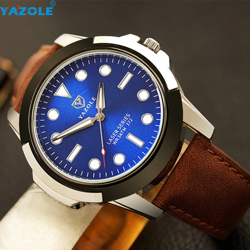 YAZOLE Relogio Masculino Men Watch Top Brand Luxury Famous Stainless Steel Strap Quartz Watch 2017 s7