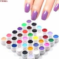 36 stks Mix Kleuren Potten Cover UV Nail Art Gel Tips Builder Manicure Decor Set # H027 #