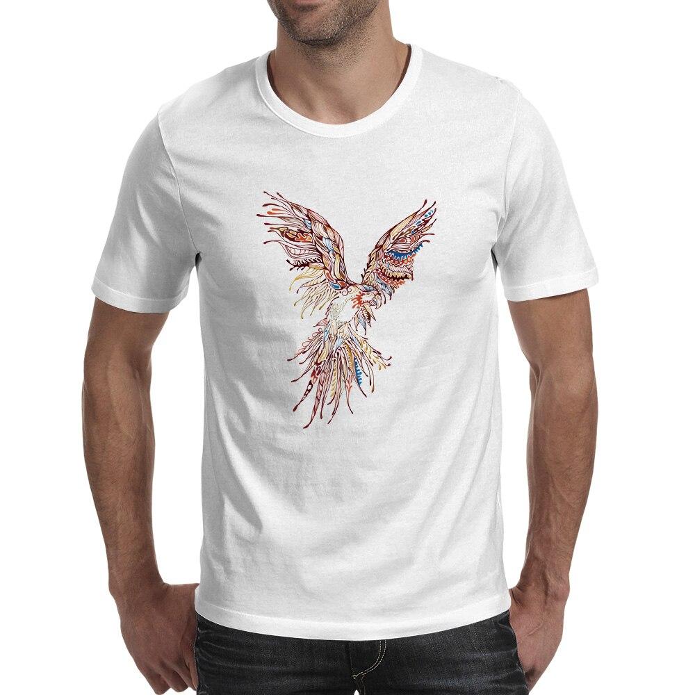 3d348e77 Rainbow Eagle Watercolor T Shirt Hip Hop Punk Creative T shirt Style ...