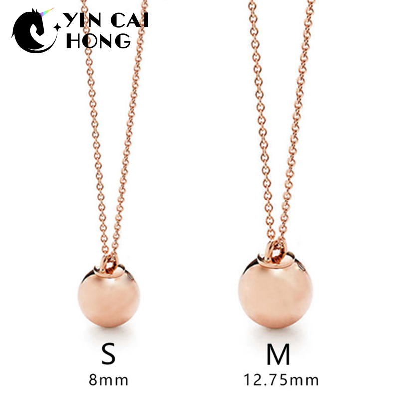 YCH Charm Gift 925 Sterling Silver Pink Bead TIFF Attractive Elegance Temperament Necklace World JewelryYCH Charm Gift 925 Sterling Silver Pink Bead TIFF Attractive Elegance Temperament Necklace World Jewelry