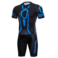 Men's Short Sleeve Triathlon Skinsuit Breathable Triathlon Race Suit For Outdoor Sports Cycling, Swimming, Racing