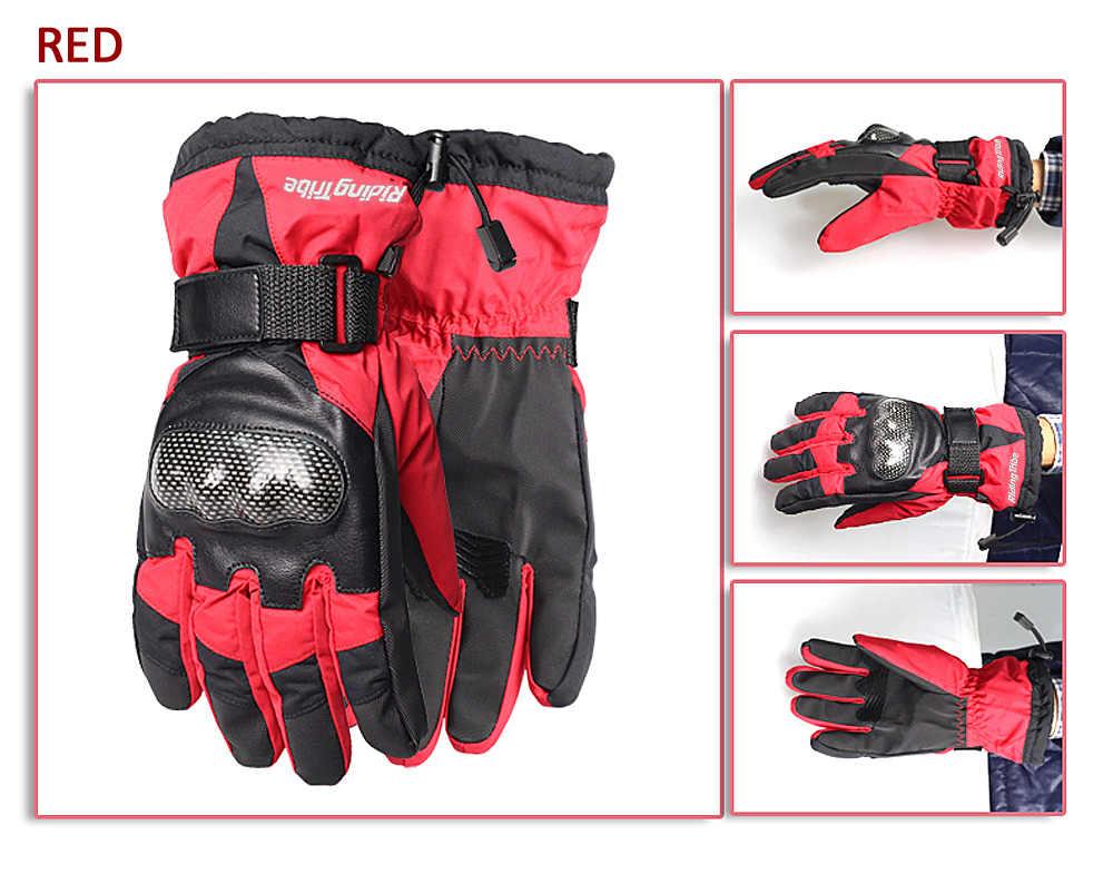 乗馬部族モト手袋冬の男性の女性オートバイ Guantes 防水レーススキー保護ギア手ガード HX-03
