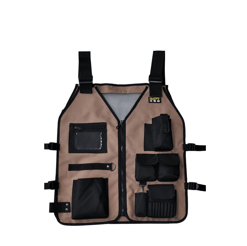 FASITE Oxford Cloth Adjustable Tool Vest Type Heavy Duty Waistcoat Tool Bag