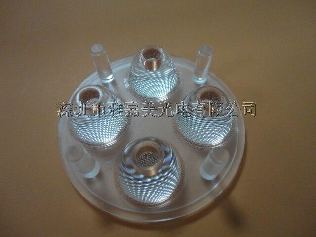 CREE lens Diameter 50mm 85 degrees Bead surface 4 UP 1 LED lens,  XLamp XPEXPG lens