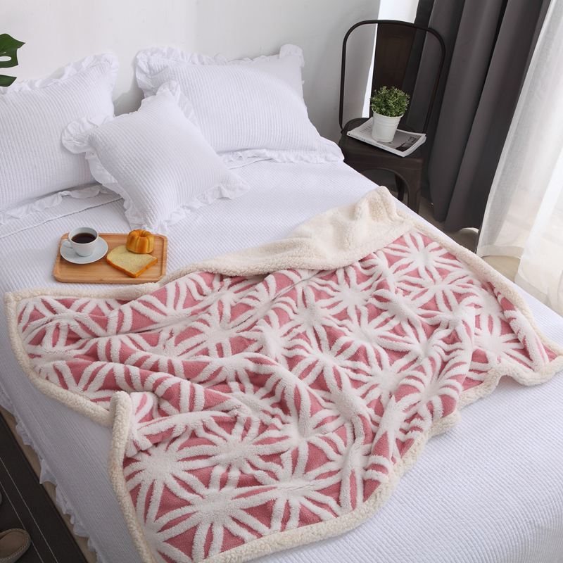 New Double Layer Soft Bed Blanket Winter Thick Warm Plush Fleece Blanket Children Kids Travel Throw Sofa Blanket zhh warm soft fleece strip blankets double layer thick plush throw on sofa bed plane plaids solid bedspreads home textile 1pc
