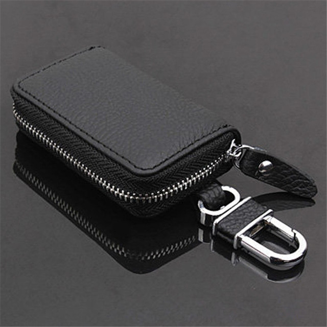 Black PU Leather Car Key Wallets