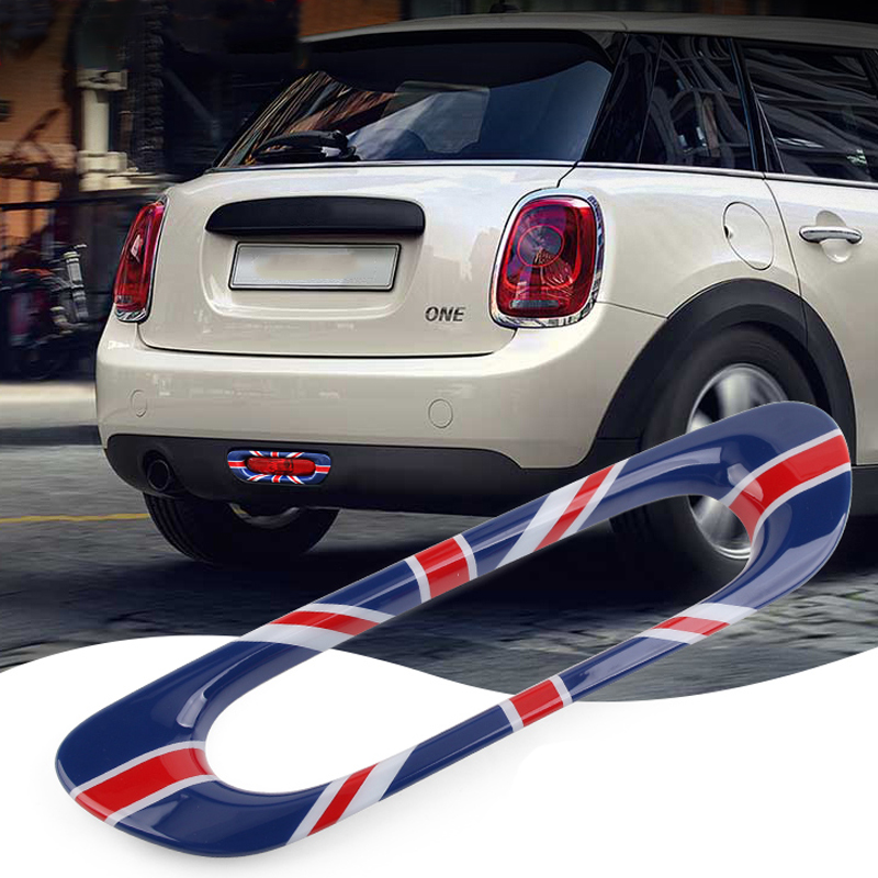 Car Rear Tail Foglight Fog Light Lamp Frame Trim Covers Decoration Sticker For Mini Cooper JCW