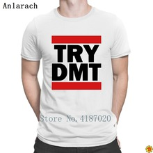 Try Dmt T Shirt Gift Super Knitted Trendy T Shirt For Men Male 100% Cotton Summer Anlarach Letters