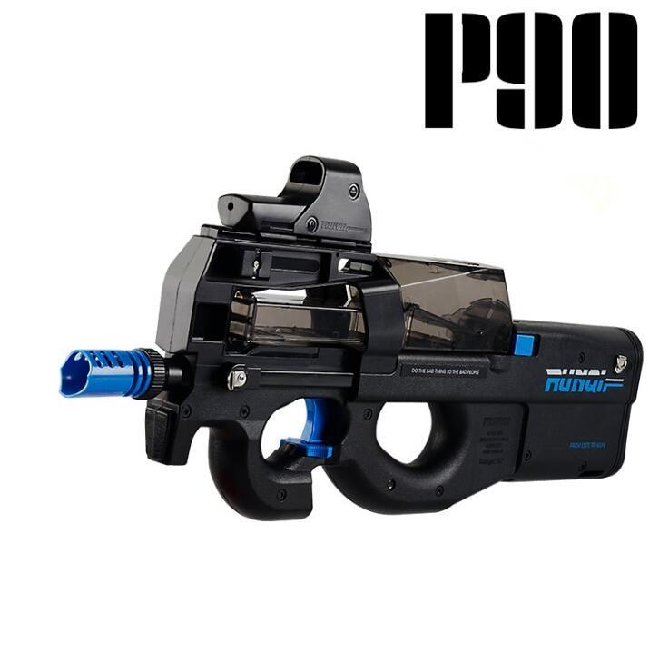 Nouveau P90 Électrique Jouet Pistolet Graffiti Édition CS Live D'assaut Snipe arme Doux Balle de L'eau Éclats Gun Drôle Extérieur Jouets Pour Enfant