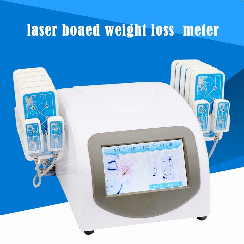 160 mw Diode Lipo Laser LLLT graisse brûlante Anti-Cellulite corps sculptant 14 tampons perte de poids beauté minceur Machine Spa