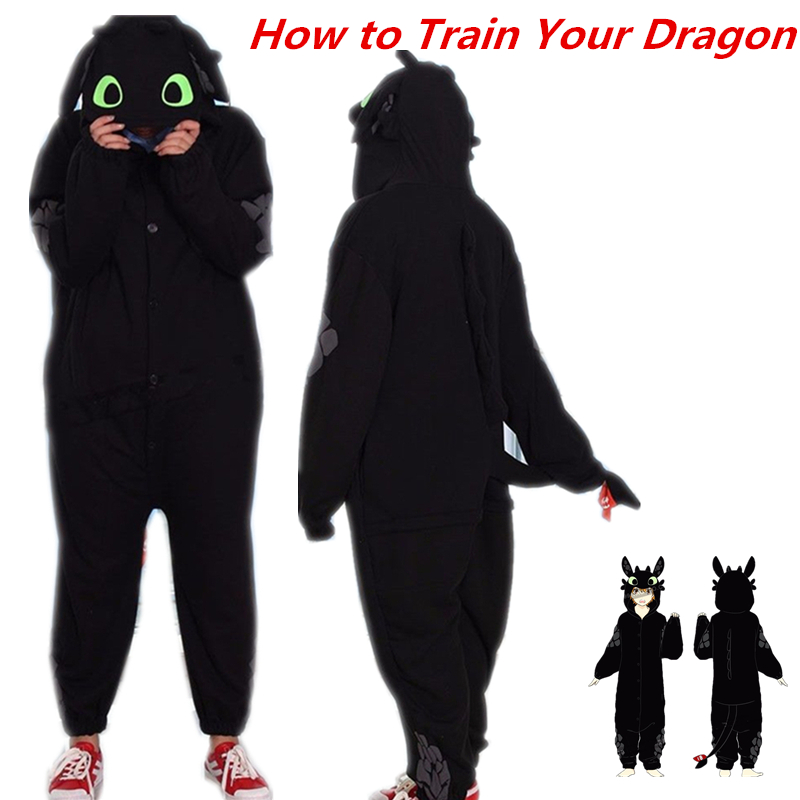 How to Train Your Dragon Toothless Unisex Sleepwear Pajamas Jumpsuit Cosplay Costume