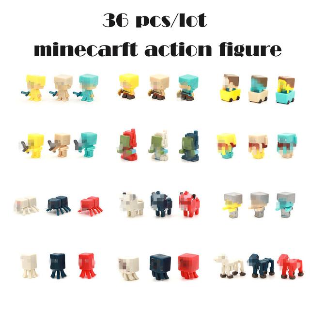 36 cái/bộ Bán Minecraft Nóng Trò Chơi Hành Động Hình Đồ Chơi Juguetes Thanh Kiếm Espada Minecraft Con Số Mô Hình Kids Toy Quà Tặng Brinquedos