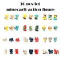 36 pçs/set Venda Quente Minecraft Jogo Action Figure Brinquedos Modelo Figura Toy Kids Presentes Brinquedos Juguetes Espada Espada Minecraft