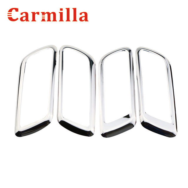 Carmilla Car Stainless Steel Inner Door Handle Frame Interior Outlet  Decoration Ring Sticker For Ford Focus
