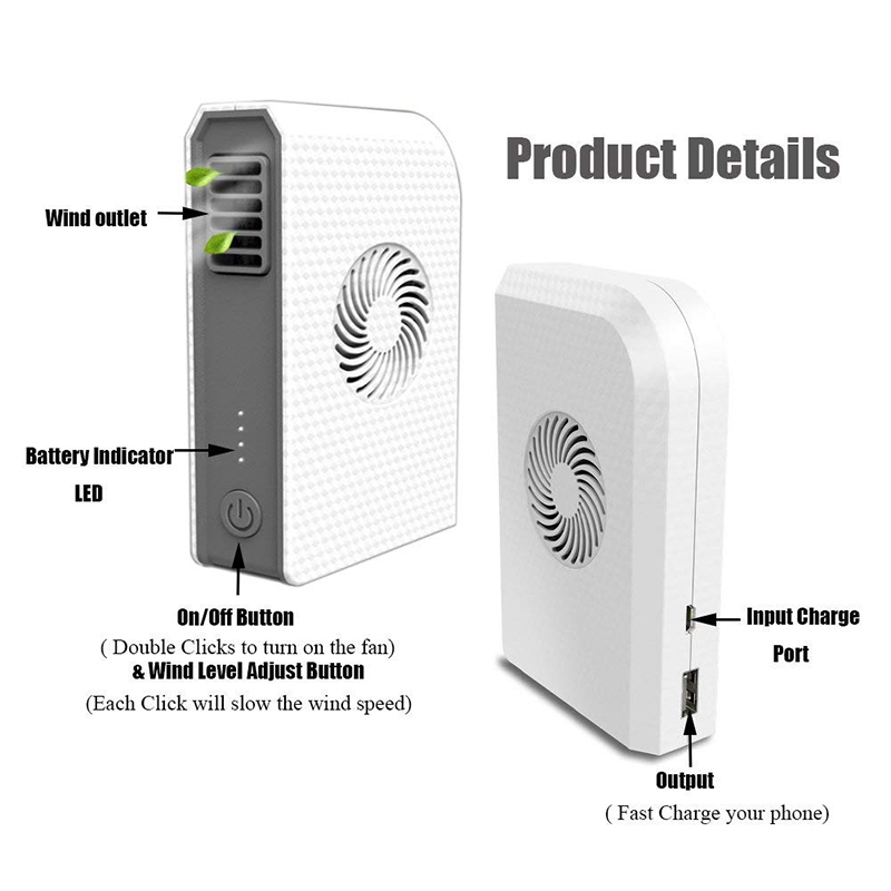 Small Desk Fan Usb Electric Handheld  Power Bank Portable Pocket for Outdoor