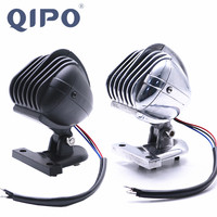 QIPO Motorcycle Tail Light Brake Stop Light Bracket Taillight Aluminum Microphones Fender Lamp for Harley Chopper Dyna Touring