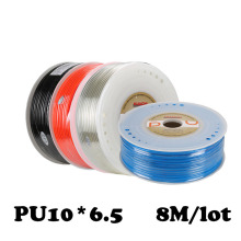 PU10*6.5  8M/lot Free shipping Air compressor inlet pipe Pu air & water Pneumatic parts pneumatic hose ID 6.5mm OD 10mm