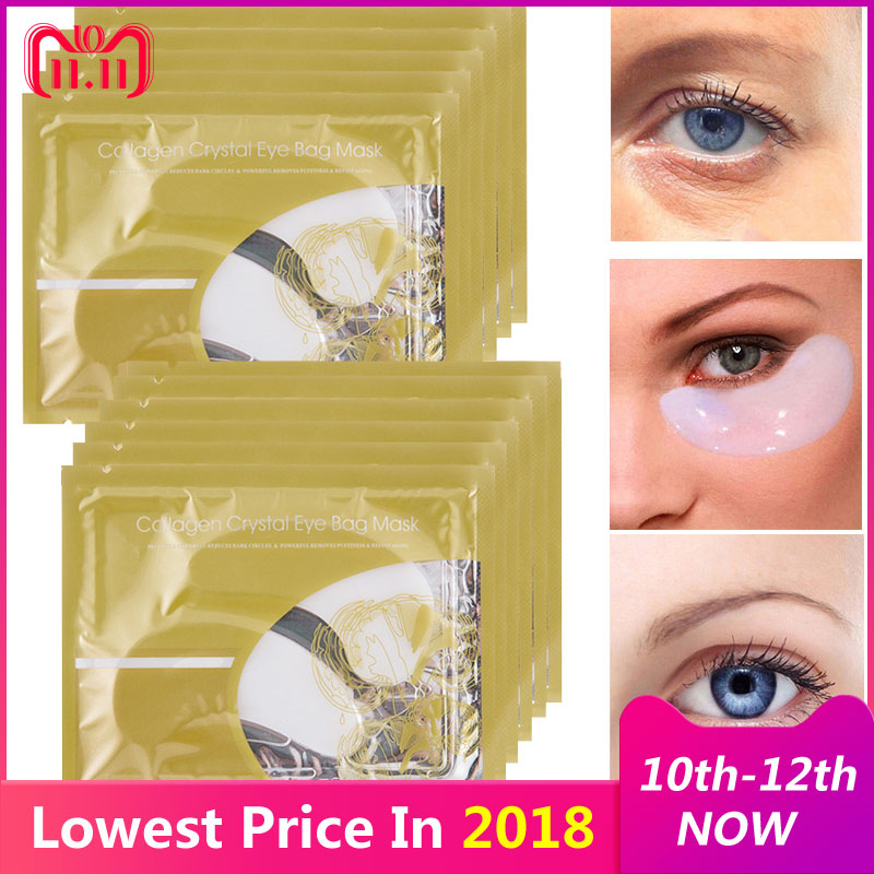 30pcs=15pair Collagen Crystal Eye Mask Moisture Anti-Ageing Eyelid Patch Care Mask For Face Mask Eye Patches for the Eyes Care цена