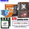 Скидка материнской HUANAN Чжи deluxe X79 LGA2011 материнской платы с M.2 слот Процессор Xeon E5 2640 C2 с охладитель Оперативная память 16G (4*4G) RECC