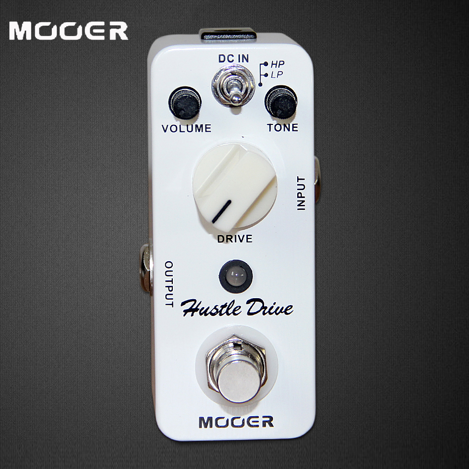 MOOER Micro Series Pedal / True Bypass Hustle Drive Distortion Guitar Effects Pedal / Electric Guitar Pedal mooer hustle drive distortion guitar effect pedal micro pedal true bypass effects with free connector and footswitch topper