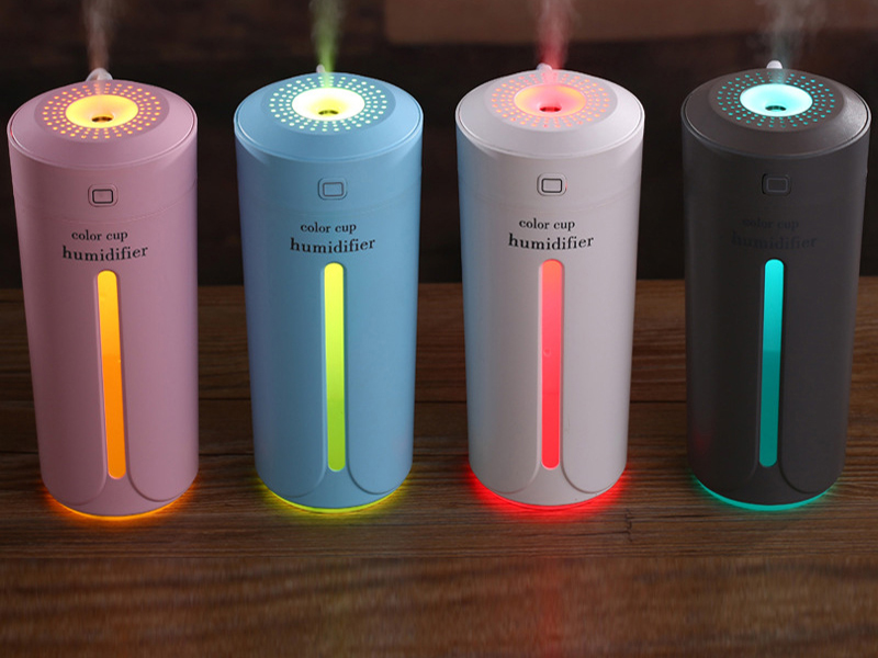 Ultrasonic Air Humidifier Essential Oil Diffuser With 7 Color Lights Electric Aromatherapy USB Humidifier Car Aroma Diffuser H